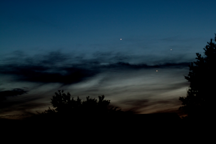 My image of the planetary trio taken with my Canon 100mm 1:2.8 USM lens.