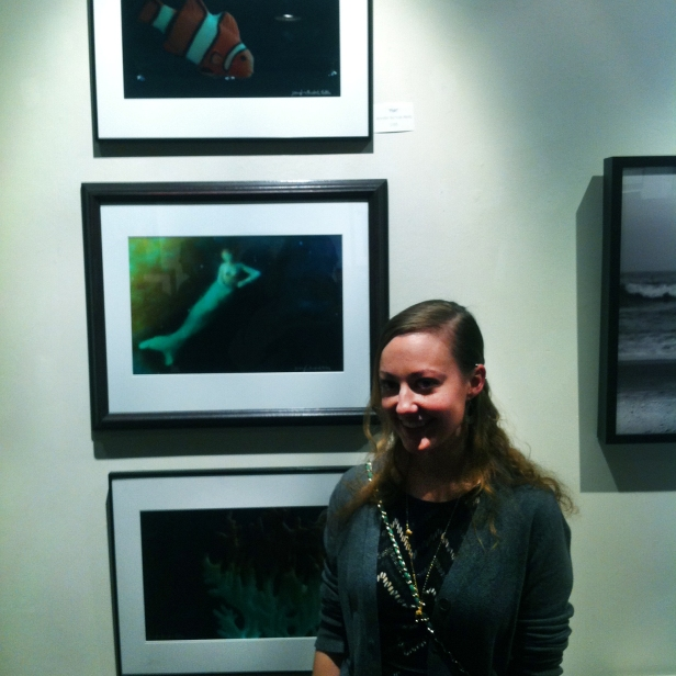 Me with my pieces at Local Exposure on the 24th- photo by Erica Williams
