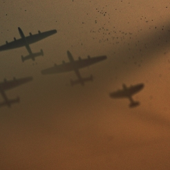 One of my war images made with planes from the board game Axis and Allies. tourmalinenow.com