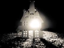 house silhouette - black