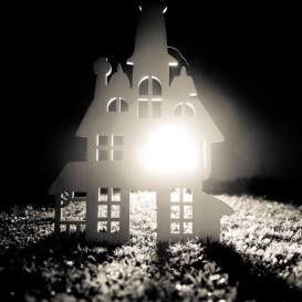 house silhouette - black