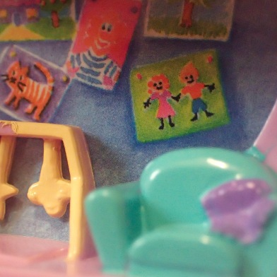 Macro photogrphy of vintage Polly Pockets, toy photograph by Tourmaline .