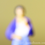 yellow and blue blurred portrait, toy photography by Tourmaline .