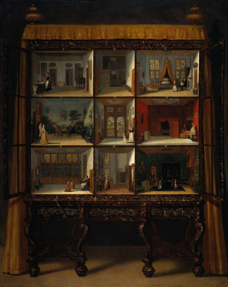 Petronella Oortman's cabinet house, painted by Jacob Appel