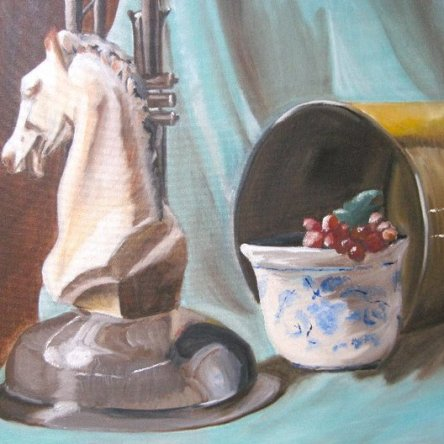 Still life oil painting by Tourmaline .