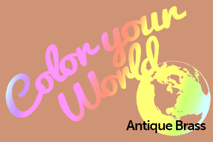 antique brass color your world photo challenge badge