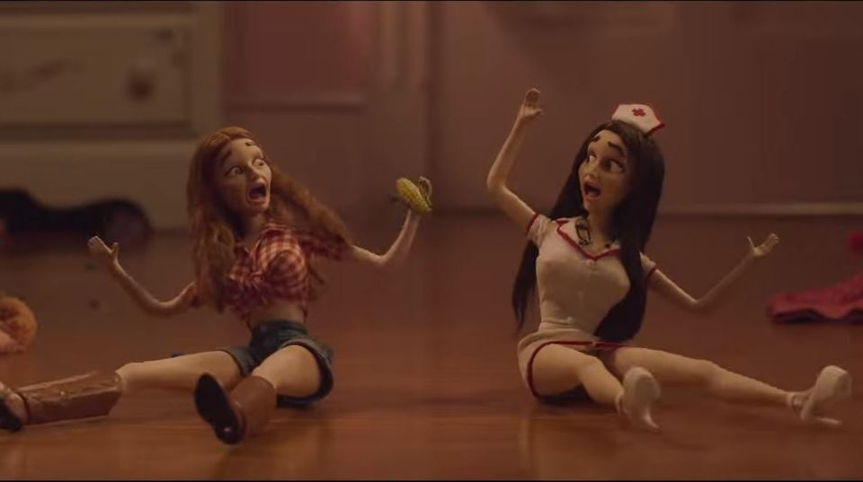 doll scene from Book Smart movie