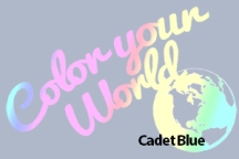 cadet blue color your world photo challenge badge