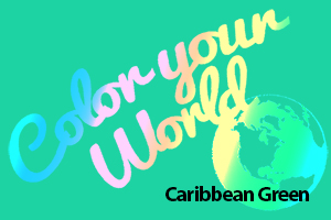 Caribbean green color your world photo challenge badge