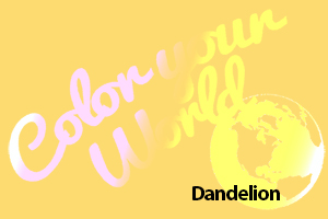 dandelion color your world photo challenge badge