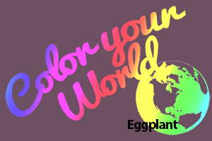 eggplant color your world photo challenge badge