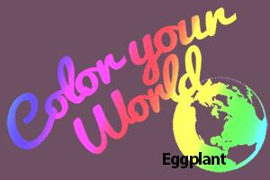 eggplant color your world photo challenge badge