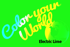 electric lime color your world photo challenge badge
