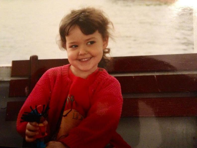 Me with a Cabbage Patch Kids McDonald's Toy (and wearing a Lion King shirt) on a Glass Bottom boat in Silver Springs