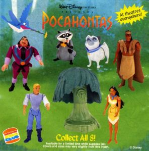 Burger King Disney's Pocahontas 1995 Kids Meal Toys