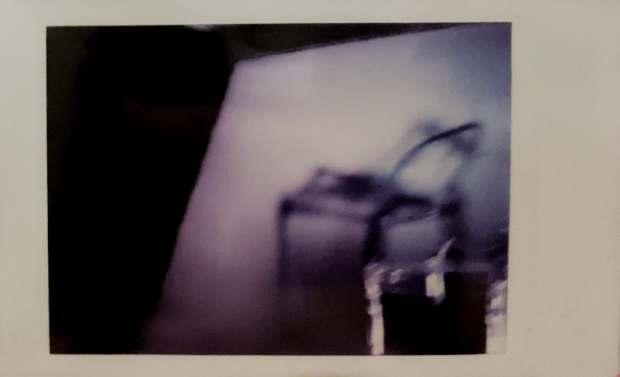 Fujifilm Instax Mini 90 Neoclassic photo of 1:6 clear chair by Tourmaline .