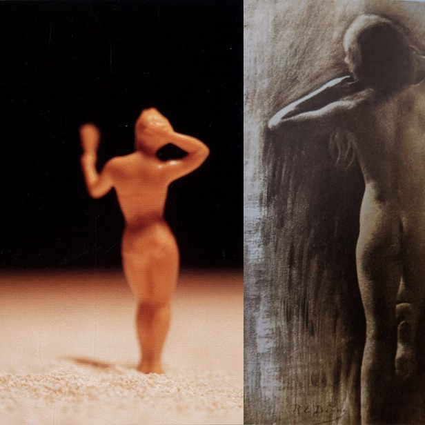David Levinthal, American Beauties, 1989 and Rene Le Begue, Study, 1906