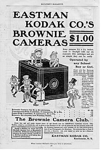 1900 Kodak Brownie Ad with Sprites