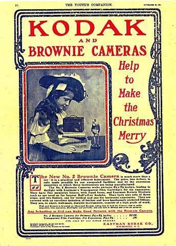 Kodak Brownie camera Christmas ad, The Youth's Companion 1901