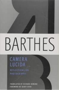 Book cover of Camera Lucida Reflections on Photography
