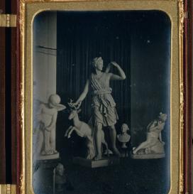 Sculpture Gallery, Boston Athenaeum, 1855, Daguerreotype