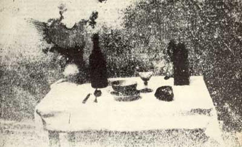 La Table Servie (the set table), Nicéphore Niépce, 1823 – 1829